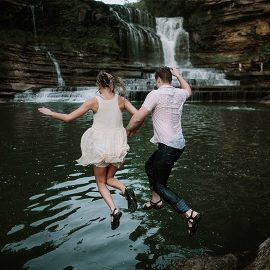 Khloe + Blair, Waterfall Engagement