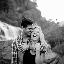 Tennessee Waterfall Engagement Session