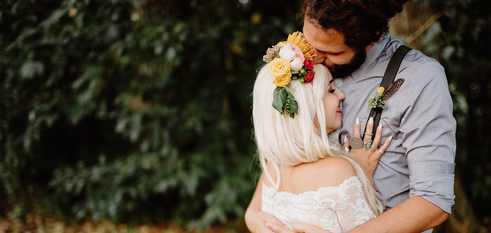 Travel Inspired Backyard Wedding