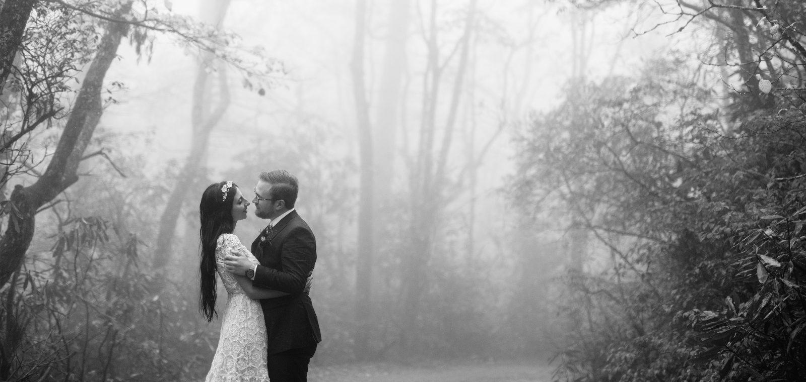 Rainy Highlands North Carolina Wedding